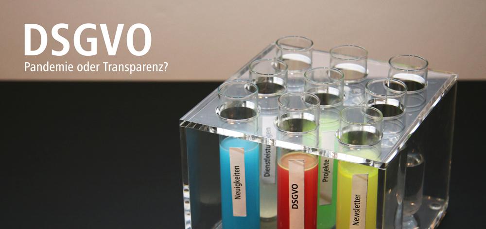 Pandemie oder Transparenz - DSGVO
