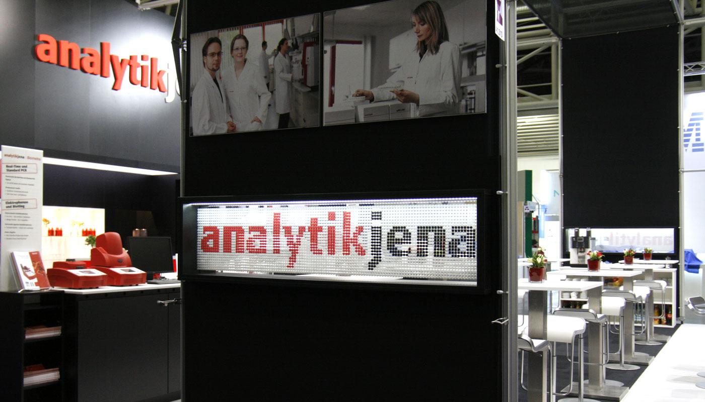 Analytik Jena Messestand analytica 2012